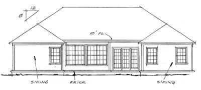 Rear Elevation Plan: 11-199