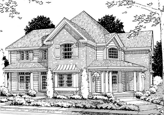 Country Style Floor Plans Plan: 11-200