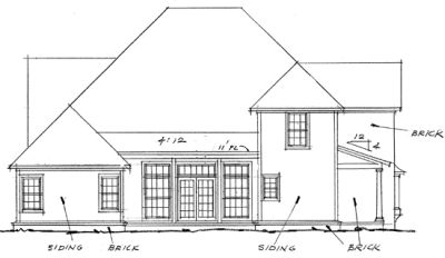Rear Elevation Plan: 11-200