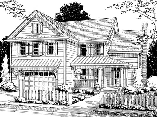 Country Style Home Design Plan: 11-201