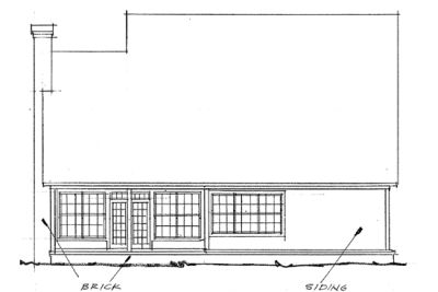 Rear Elevation Plan: 11-201