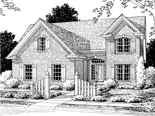 Traditional Style Home Design Plan: 11-202