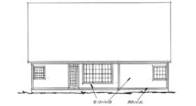 Rear Elevation Plan: 11-202