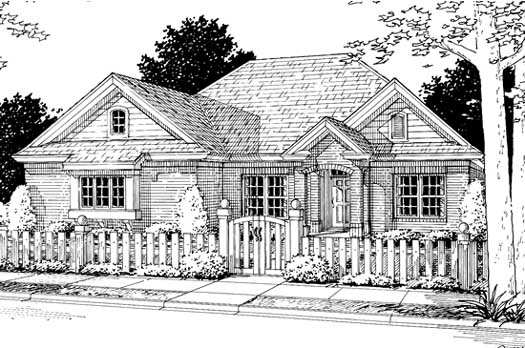 Traditional Style Floor Plans Plan: 11-203