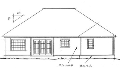 Rear Elevation Plan: 11-203