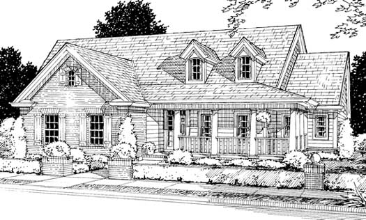 Country Style Home Design Plan: 11-204