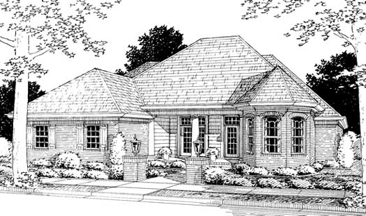 Traditional Style Floor Plans Plan: 11-205