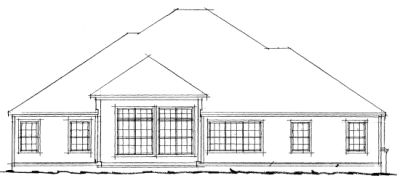 Rear Elevation Plan: 11-205