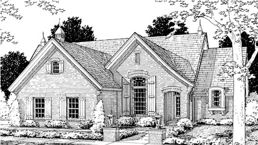 French-country Style House Plans Plan: 11-207