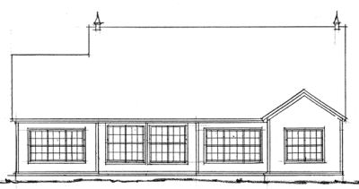 Rear Elevation Plan: 11-207