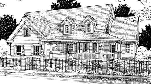 Country Style Floor Plans Plan: 11-208