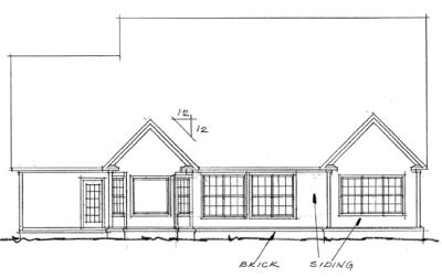 Rear Elevation Plan: 11-208