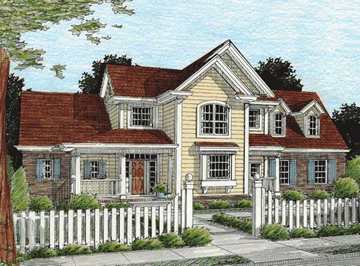 Country Style Home Design Plan: 11-209
