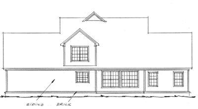Rear Elevation Plan: 11-209