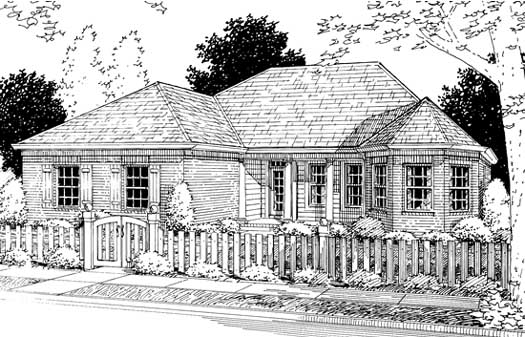 Traditional Style Home Design Plan: 11-210