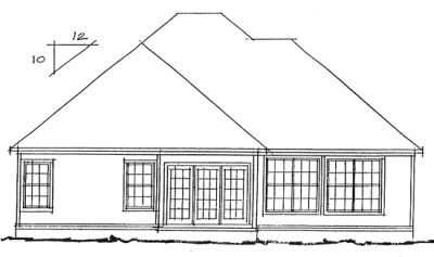 Rear Elevation Plan: 11-211