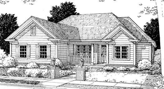Country Style Floor Plans Plan: 11-213