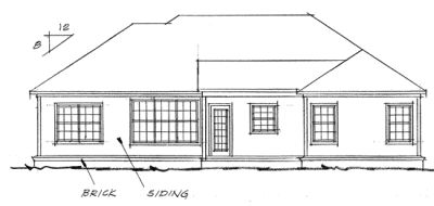 Rear Elevation Plan: 11-213