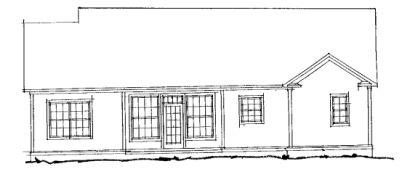 Rear Elevation Plan: 11-214