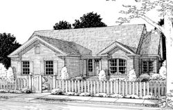 Traditional Style Home Design Plan: 11-214