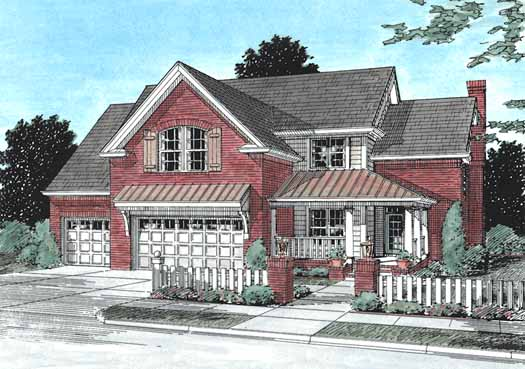 Traditional Style Home Design Plan: 11-215