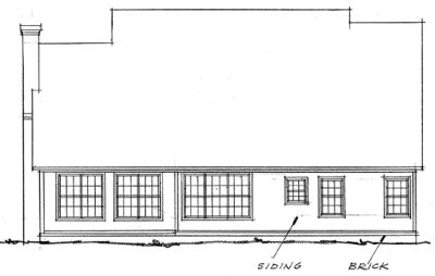 Rear Elevation Plan: 11-215