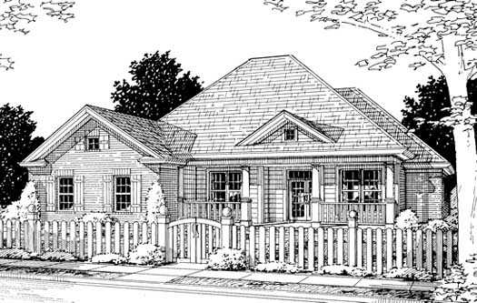 Traditional Style Home Design Plan: 11-216