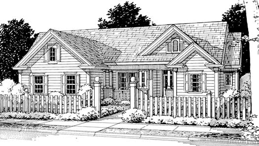 Country Style Home Design Plan: 11-217