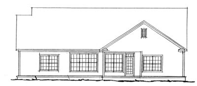 Rear Elevation Plan: 11-217