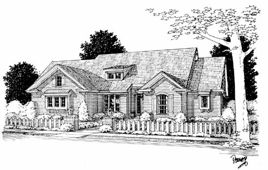 Traditional Style Home Design Plan: 11-218
