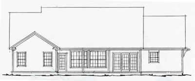 Rear Elevation Plan: 11-218