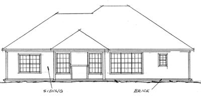 Rear Elevation Plan: 11-219