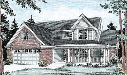 Country Style Home Design Plan: 11-220