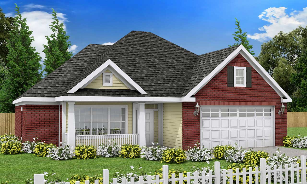 European Style Home Design Plan: 11-221