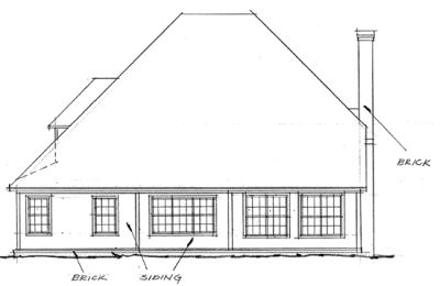 Rear Elevation Plan: 11-221