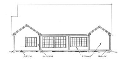Rear Elevation Plan: 11-222