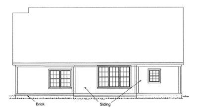 Rear Elevation Plan: 11-223