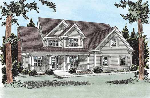 Traditional Style Home Design Plan: 11-224