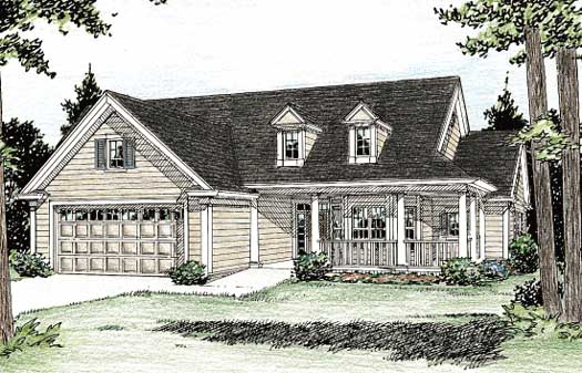 Country Style Home Design Plan: 11-225