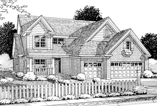 Traditional Style Home Design Plan: 11-227