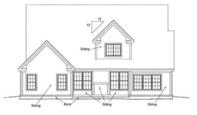 Rear Elevation Plan: 11-227