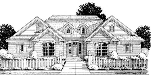 Traditional Style Home Design Plan: 11-228