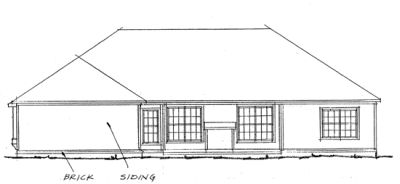 Rear Elevation Plan: 11-228