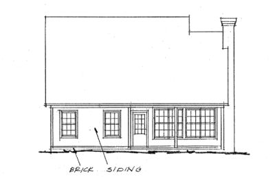 Rear Elevation Plan: 11-229