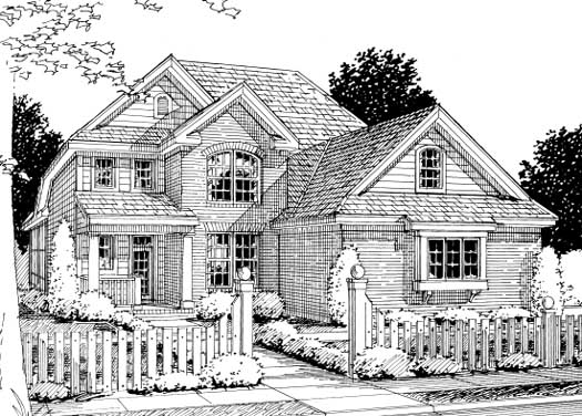 Traditional Style Home Design Plan: 11-230