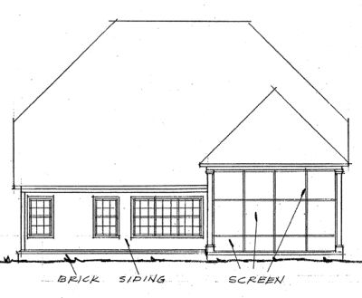 Rear Elevation Plan: 11-230