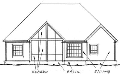 Rear Elevation Plan: 11-231