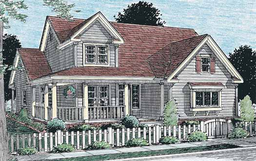 Country Style Home Design Plan: 11-233