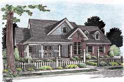 Traditional Style Home Design Plan: 11-234