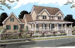 Country Style Home Design Plan: 11-235